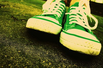 Green Sneakers photo by Pink Sherbet (flickr)