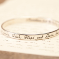 Faith, Hope, and Love bangle by DaySpring