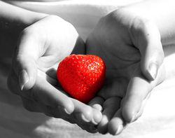 Strawberry Heart by saxon (flickr)