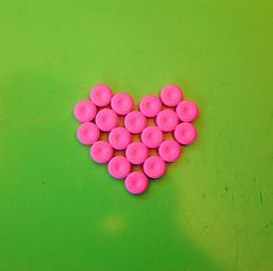 Pink and Green Heart photo by D Sharon Pruitt (flickr)