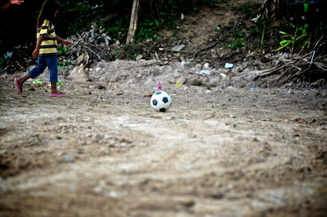 laura parker, desert soccer ball