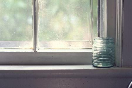 Jar on a window