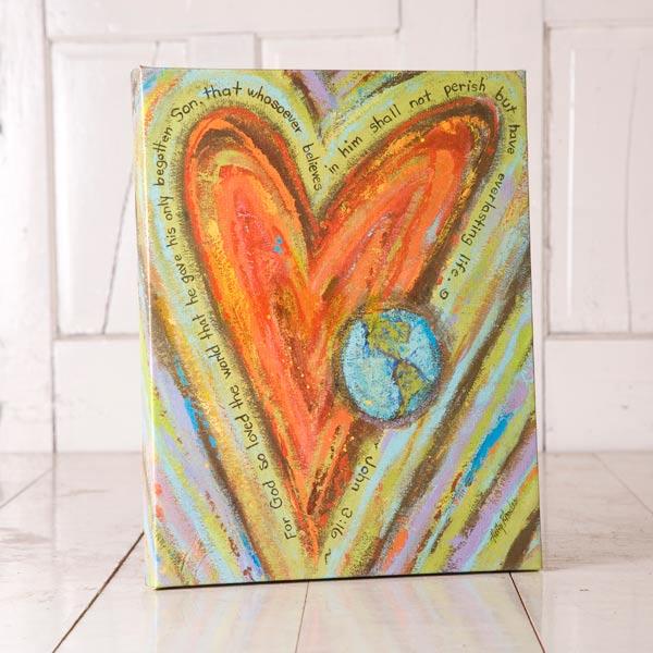 Heart and Globe Canvas Print