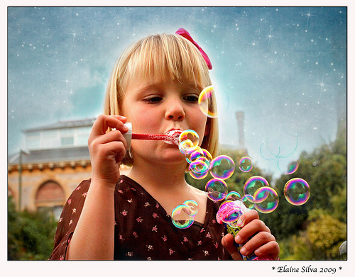 Girl with Bubbles by Elaine on Flickr